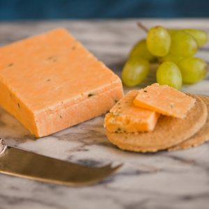 Greenfields Double Gloucester Cheese with Chives & Onion